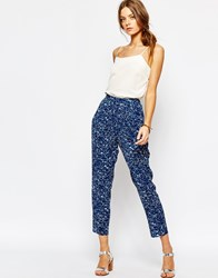 Suncoo Printed Trousers Blue