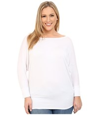 Culture Phit Plus Size Lara Modal Top White Women's Clothing
