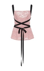 Sachin Babi And Laguardia Fitted Lace Top Light Pink