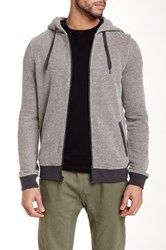Micros Torches Knit Zip Hoodie Gray