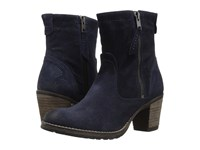 Taos Standout Blue Embossed Suede Women's Shoes