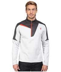 Spyder Charger Therma Stretch T Neck Top Cirrus Polar Rage Men's Long Sleeve Pullover White