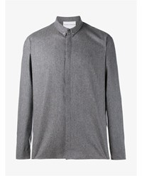 Stephan Schneider Wool Cashmere Blend Shirt Grey Chocolate White Black