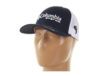 Columbia Pfg Mesh Ball Cap Collegiate Navy White Caps