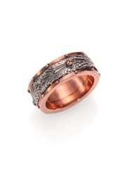 Stephen Webster Rose Gold Plated Sterling Silver Spinner Ring