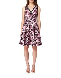 Erin Fetherston Nadine Fit And Flare Dress Wine Multi