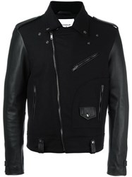 Dondup Zipped Biker Jacket Black