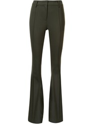 Veronica Beard High Waisted Trousers Green