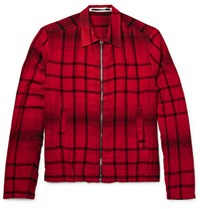 Mcq By Alexander Mcqueen Checked Woven Blouson Jacket Red