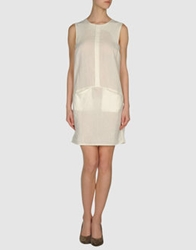 Les Prairies De Paris Short Dresses White