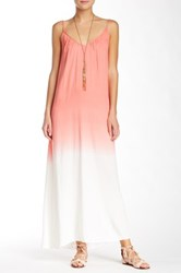 Raviya V Neck Ombre Dip Dye Maxi Dress Pink