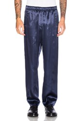 Opening Ceremony Silky Flannel Track Trousers In Blue