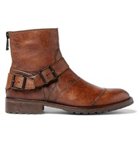 Belstaff Trialmaster Burnished Leather Boots Brown