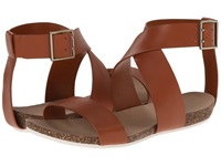 Enzo Angiolini Afuturia Cognac Leather Women's Dress Sandals Brown
