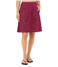 Mountain Hardwear Dryspun Perfect Printed Skirt Dark Raspberry Women's Skirt Red