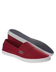 Lacoste Marice Lcr Canvas Slip On Shoes Dark Red
