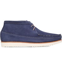 Grenson Oliver Leather Chukka Boots Blue