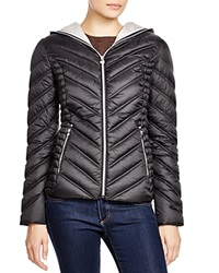 Laundry By Shelli Segal Hooded Short Packable Puffer Jacket Black