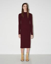 Maison Martin Margiela Ribbed Knit Dress Garnet Red