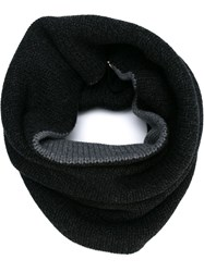Forme D'expression Reversible Knit Tube Scarf Grey