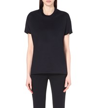 Reiss Florence Cotton Jersey Top Night Navy