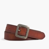 J.Crew Center Bar Italian Leather Belt Burnished Tan