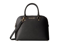 Michael Michael Kors Cindy Large Dome Satchel Black Satchel Handbags