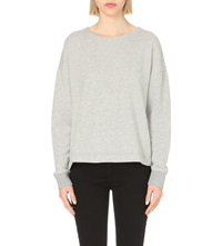 James Perse Cotton Sweatshirt Heather Grey