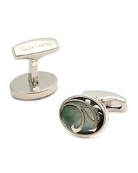 Simon Carter Grey Mother Of Pearl Cufflinks Grey Mop