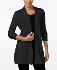 Karen Scott Open Front Sweater Cardigan Only At Macy's Only At Macy's Black