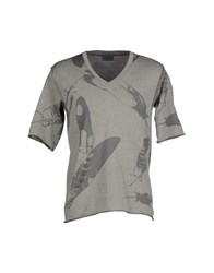 Laneus Topwear T Shirts Men Grey