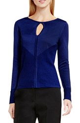 Vince Camuto Women's Keyhole Sweater Naval Navy