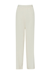 French Connection Cassie Drape Wide Leg Trousers White