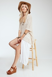Forever 21 Oversized Open Knit Top