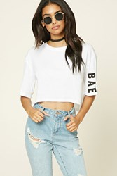 Forever 21 Bae Graphic Crop Top
