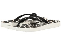 Vionic Beach Noosa Black Leopard Women's Sandals Animal Print