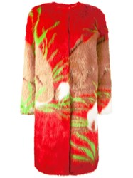 Marco De Vincenzo 'Ecologica' Coat Red