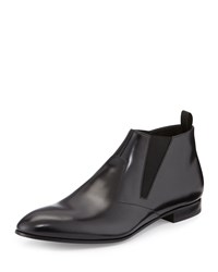 Prada Runway Leather Chelsea Boot Black Men's Size 8 9.0Us