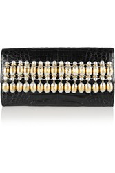 Nancy Gonzalez Embellished Crocodile Clutch