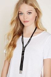Forever 21 Fringe Faux Leather Necklace