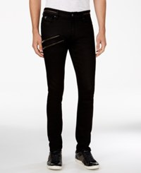 Guess Men's Zipper Skinny Jeans Rinsed Charcoal
