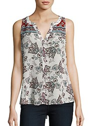 Sanctuary Sleeveless Floral Print Shell Top Provence