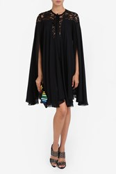 Elie Saab Women S Lace Shoulder Cape Dress Boutique1 Black