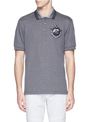 Givenchy Star Monkey Patch Embroidery Polo Shirt Grey