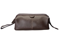 Kenneth Cole Reaction Live Kit Up Single Gusset Top Zip Hinged Travel Kit Brown Wallet