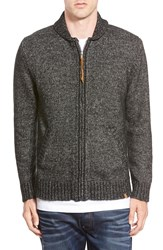 Obey 'New West' Shawl Collar Zip Sweater Black