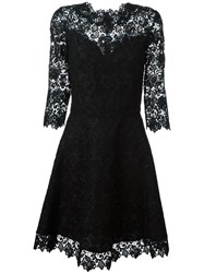 Ermanno Scervino Macrame Lace Dress Black