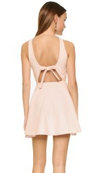 Elizabeth And James Britt Dress With Back Bow Powder Pink