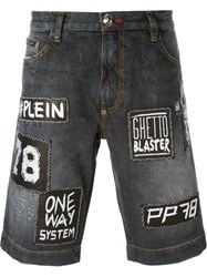 Philipp Plein 'Young Man' Denim Shorts Black