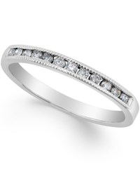 Macy's Diamond Band Ring 1 5 Ct. T.W. In 10K Rose White Or Yellow Gold White Gold